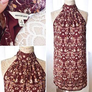 New! $118 Max Studio Burgundy Halter Dress